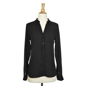 The Limited Black Long Sleeve Button Up Shirt